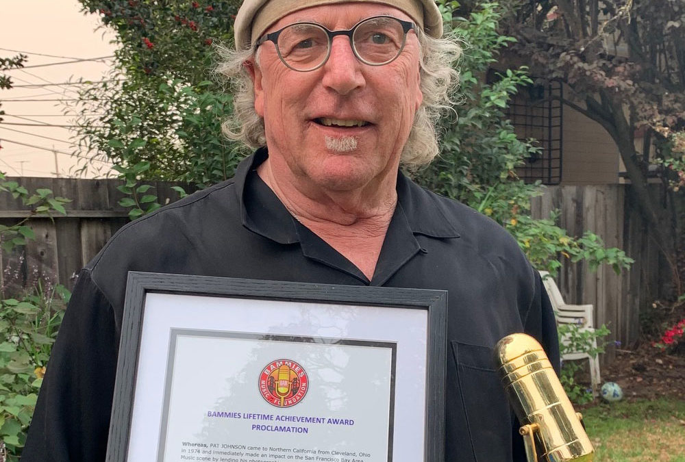 "Pat Johnson Receives the  Bay Area Music Award -""Bammie"""