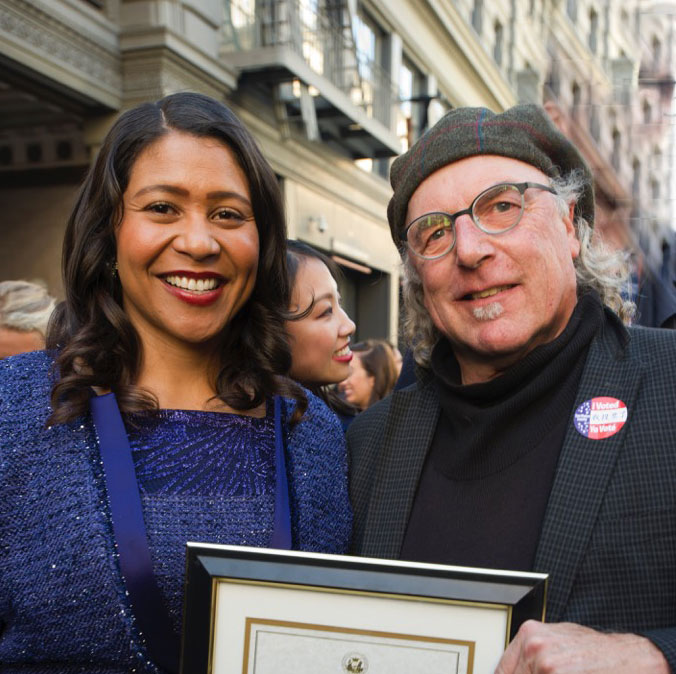 Pat Johnson receives Certificate of Honor from San Francisco's Mayor London Breed